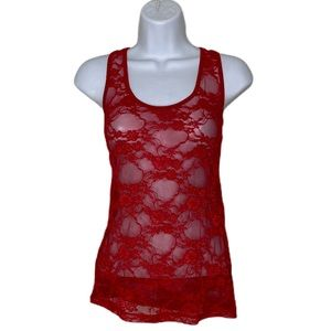 ⭐️red lace tank